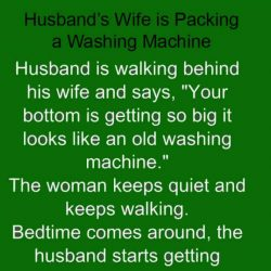 Husband's wife is packing