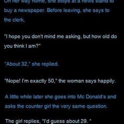 Woman has face-lift at 50…
