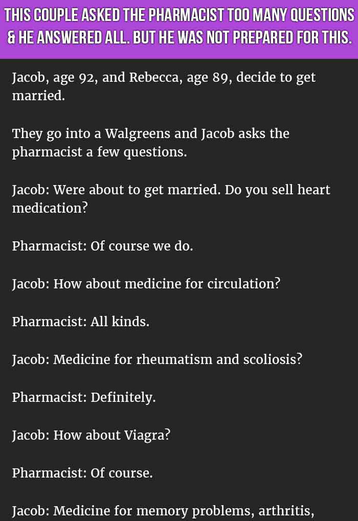 THIS COUPLE SHOCKED THE PHARMACIST WHEN THEY ASKED HIM THIS.
