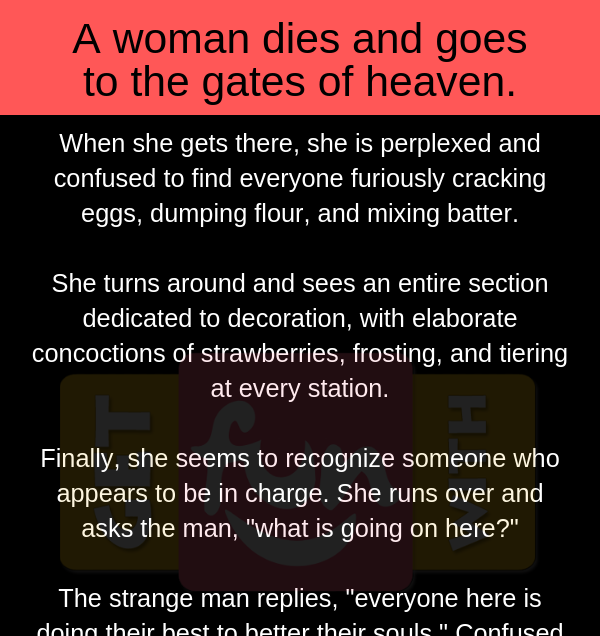 A woman dies and go to Heaven (Funny Story)