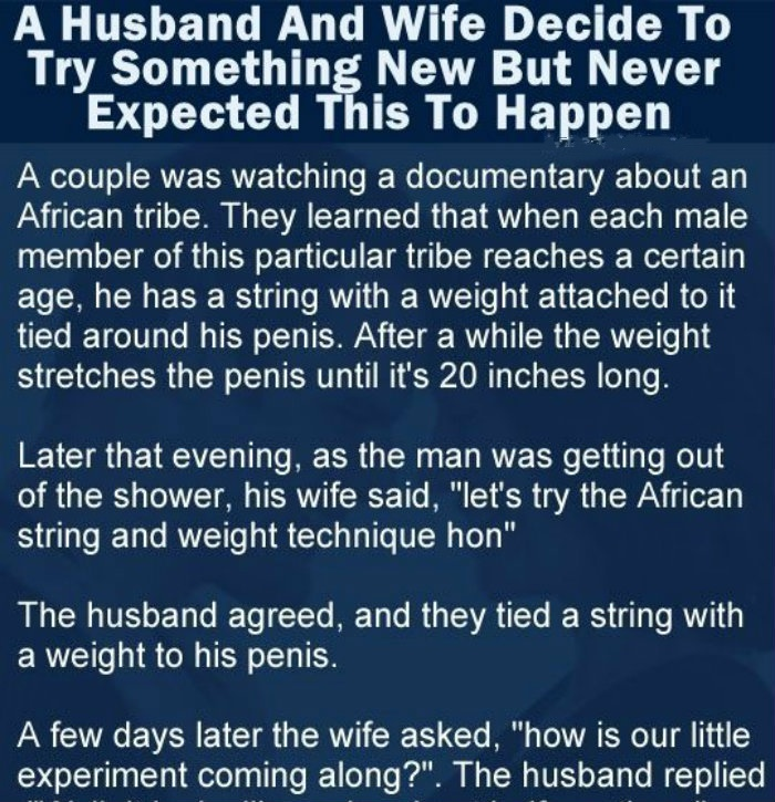 A HUSBAND AND WIFE DECIDE TO TRY SOMETHING NEW BUT NEVER EXPECTED THIS TO HAPPEN