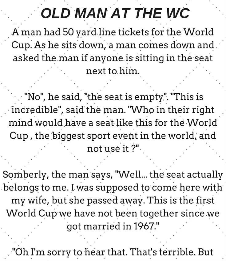 Old man at the World Cup