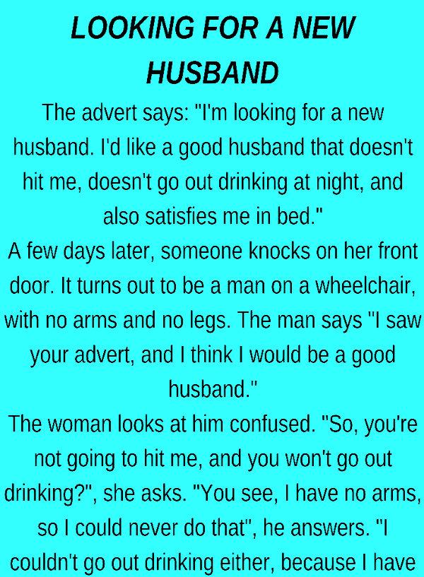 A New husband…