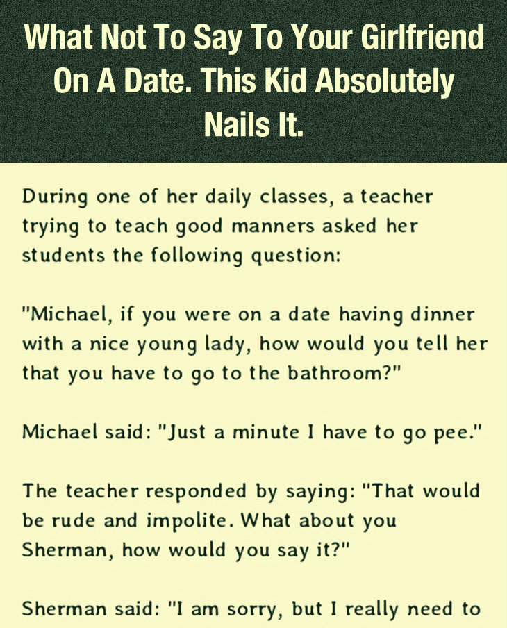 WHAT NOT TO SAY TO YOUR GIRLFRIEND ON DATE NIGHT. THIS IS HILARIOUS