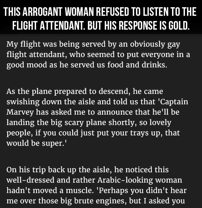 BEST RESPONSE EVER TO AN ARROGANT RICH WOMAN WHO REFUSED TO LISTEN. THIS IS PERFECT.