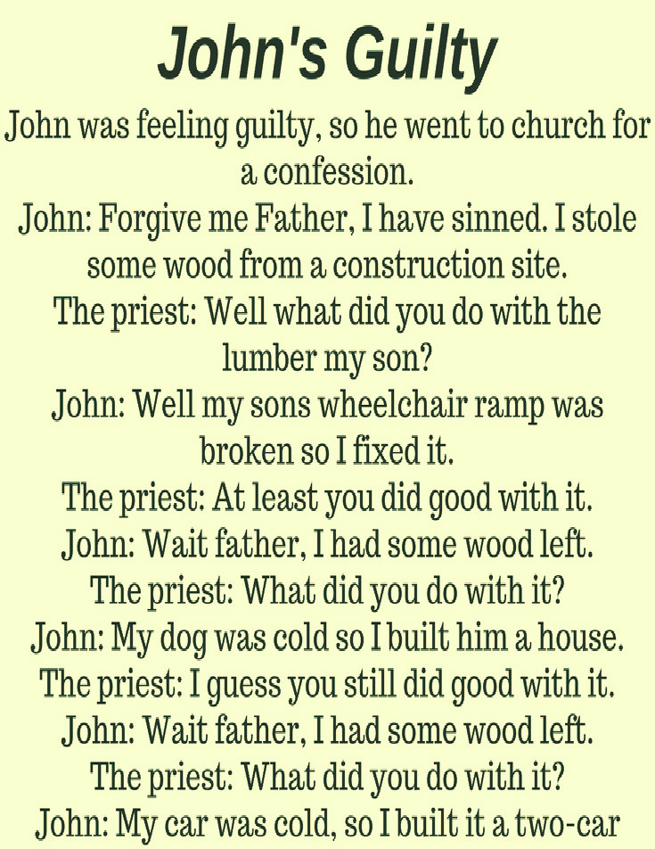 JOHN'S GUILTY