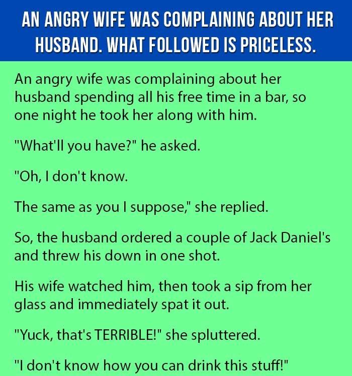 An Angry Wife (Funny Joke)