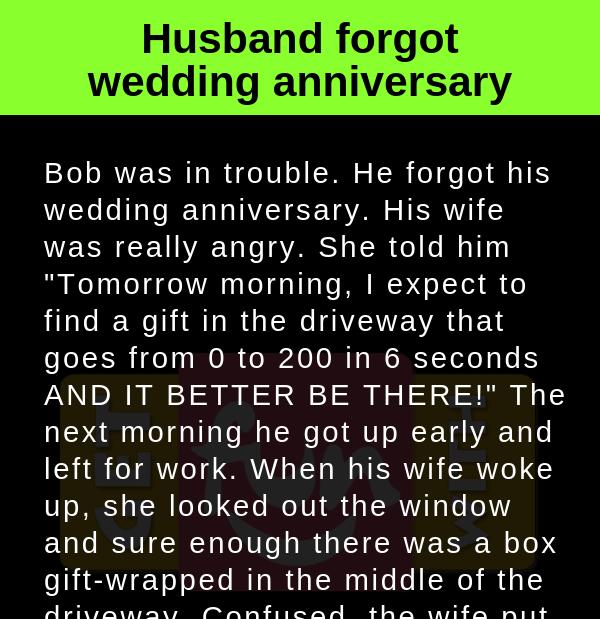 Husband forgot wedding anniversary