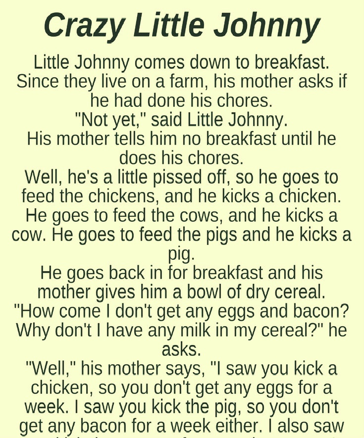 CRAZY LITTLE JOHNNY