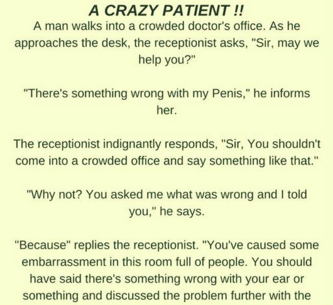 A crazy Patient!!