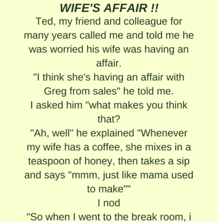 WIFE'S AFFAIR !!