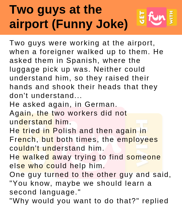 Two guys at the airport (Funny Joke)