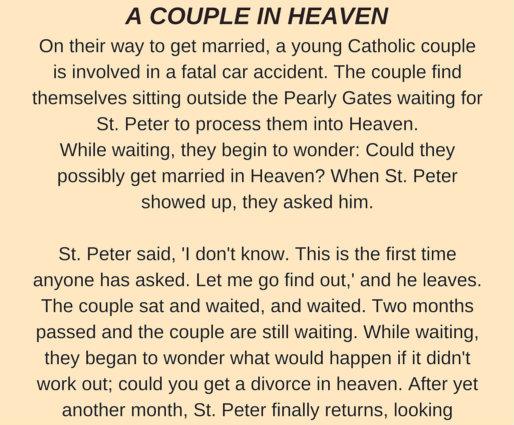 A COUPLE IN HEAVEN..