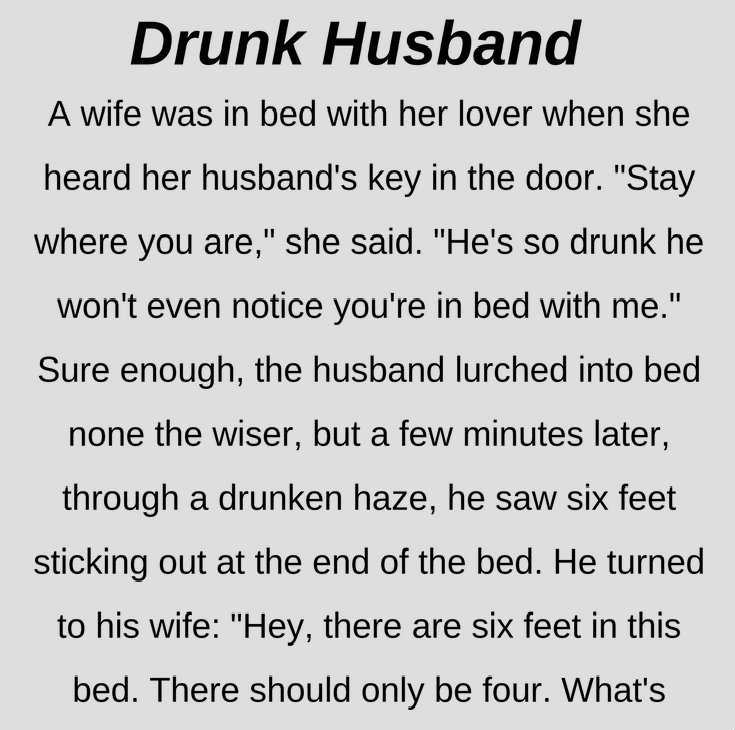 DRUNK HUSBAND! (FUNNY STORY)
