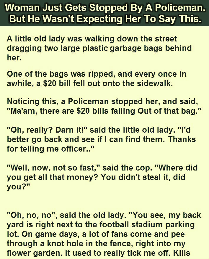 WOMAN GET STOPPED BY A POLICE OFFER FUNNY JOKE