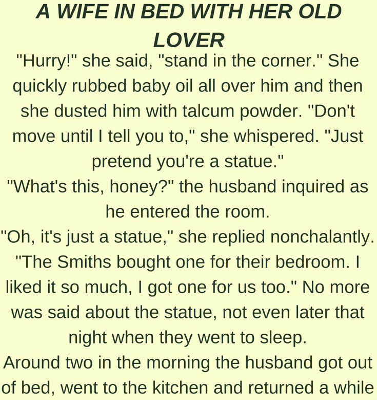 A WIFE IN BED WITH HER OLD LOVER!