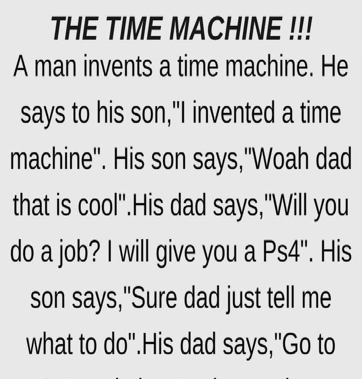 THE TIME MACHINE !!!