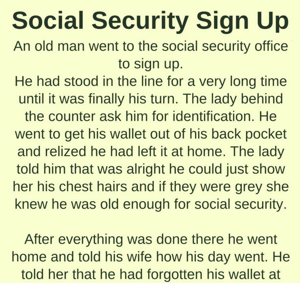 SOCIAL SECURITY SIGN UP
