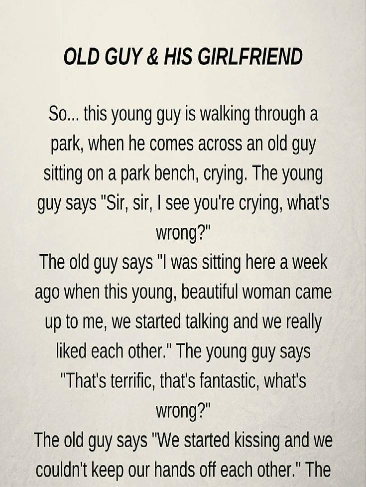 OLD GUY & HIS GIRLFRIEND