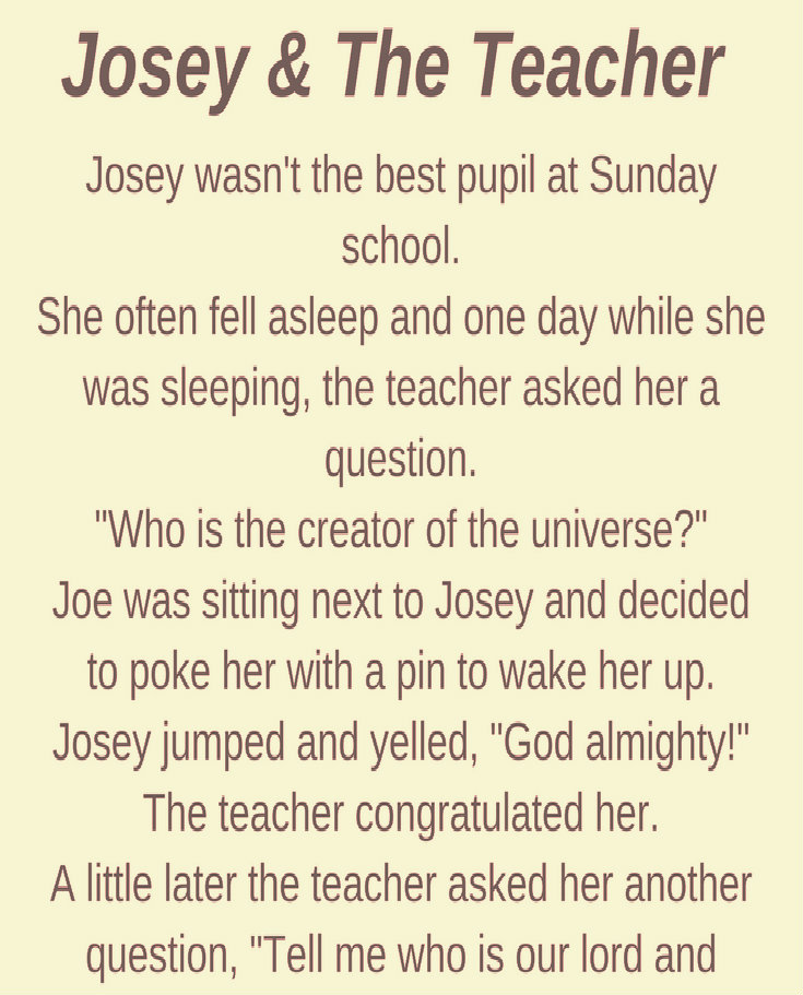 JOSEY & THE TEACHER