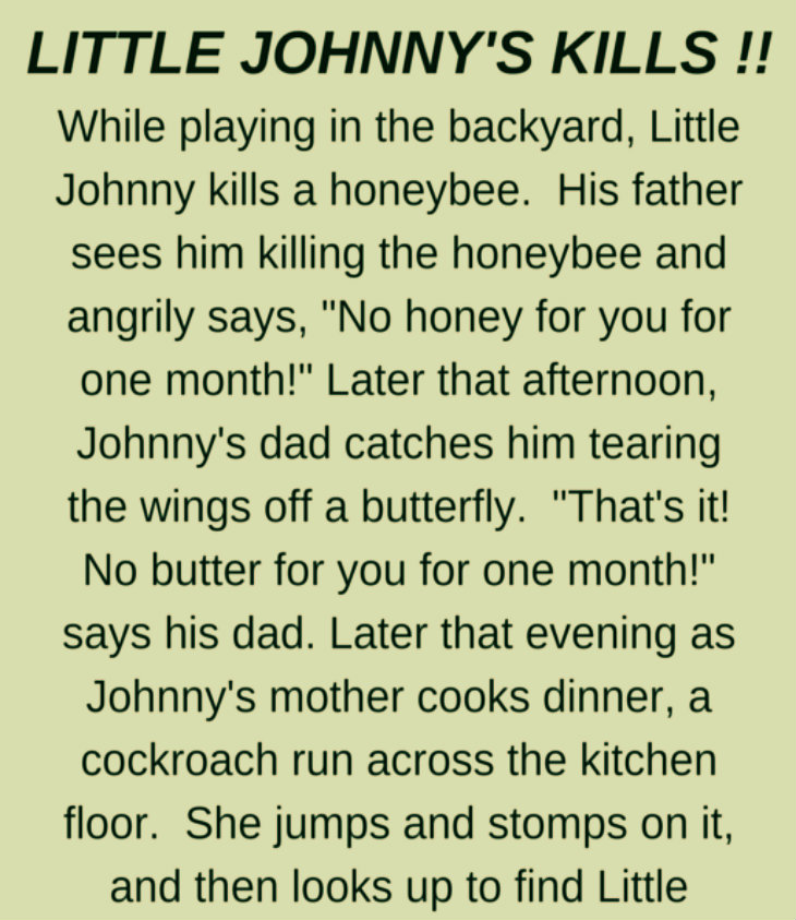 LITTLE JOHNNY'S KILLS !!