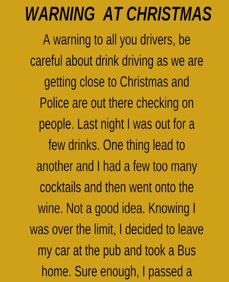 WARNING AT CHRISTMAS!!