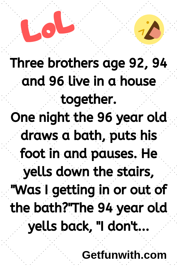 Three brothers age 92, 94 and 96 live in a house together.