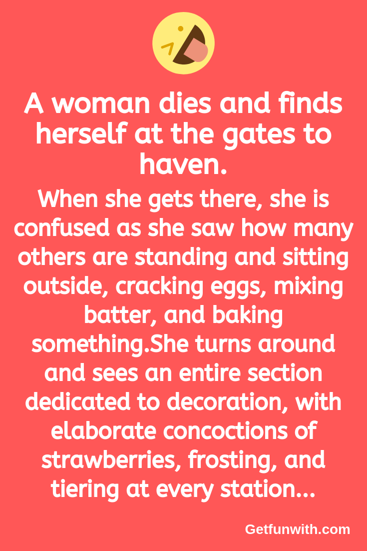 A woman dies and finds herself at the gates to haven.