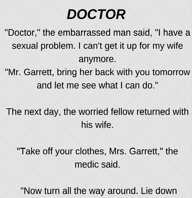 WHY DOCTOR? (FUNNY STORY)