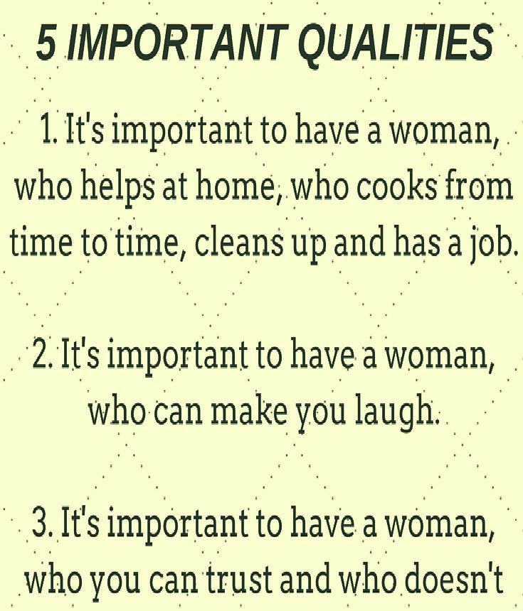 5 IMPORTANT QUALITIES THAT MEN WANT IN WOMEN – A SMALL LIST