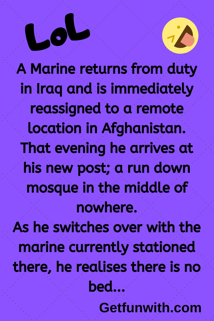 A Marine returns from duty in Iraq and is immediately reassigned to a remote location in Afghanistan.