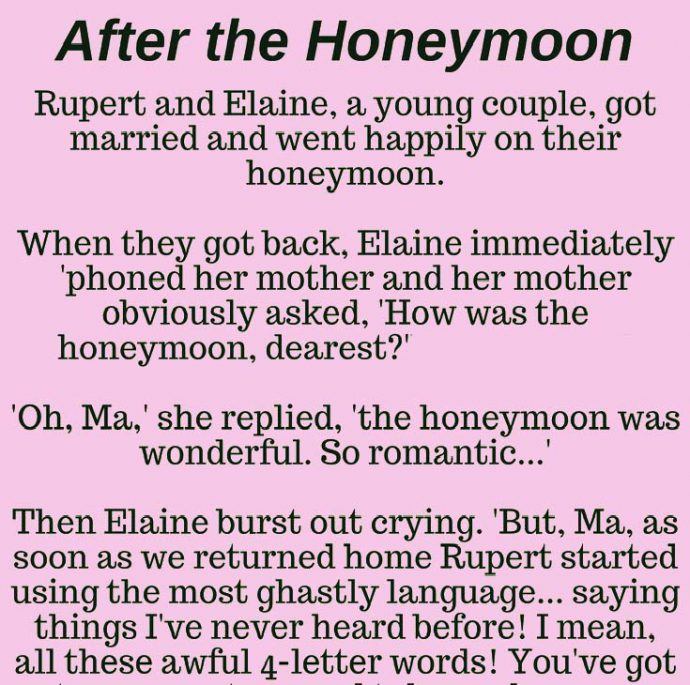 After the honeymoon...