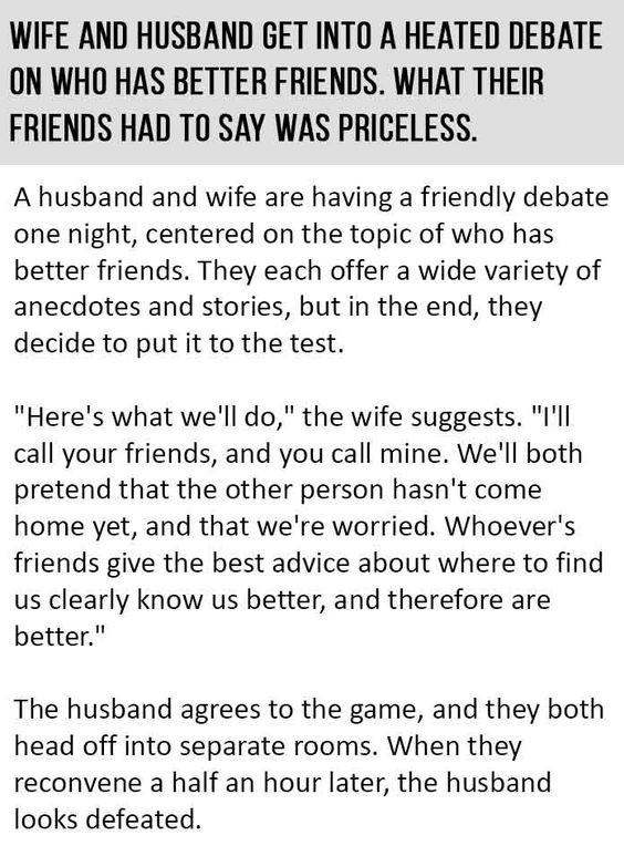 Husband and Wife get into a heated debate