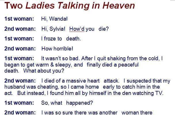 Two laddies talking in Heaven....