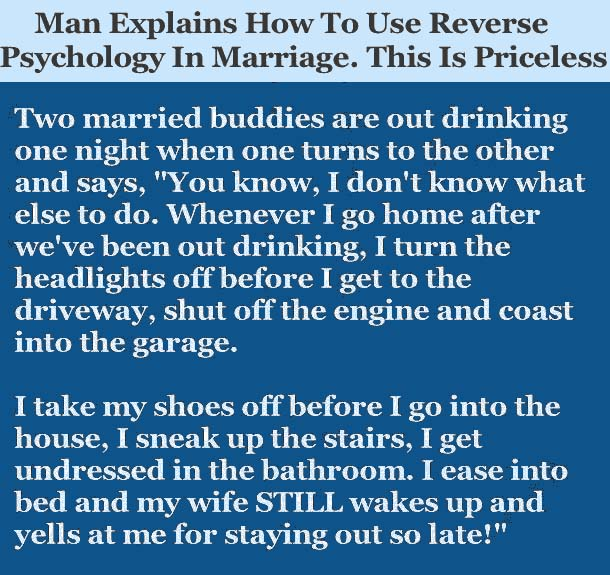 Married man explain...