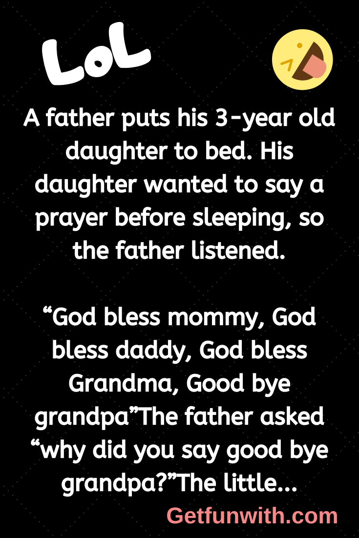 A father puts his 3-year old daughter to bed. His daughter wanted to say a prayer before sleeping, so the father listened.