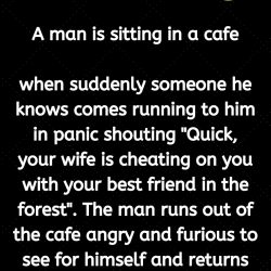 A man is sitting in a cafe