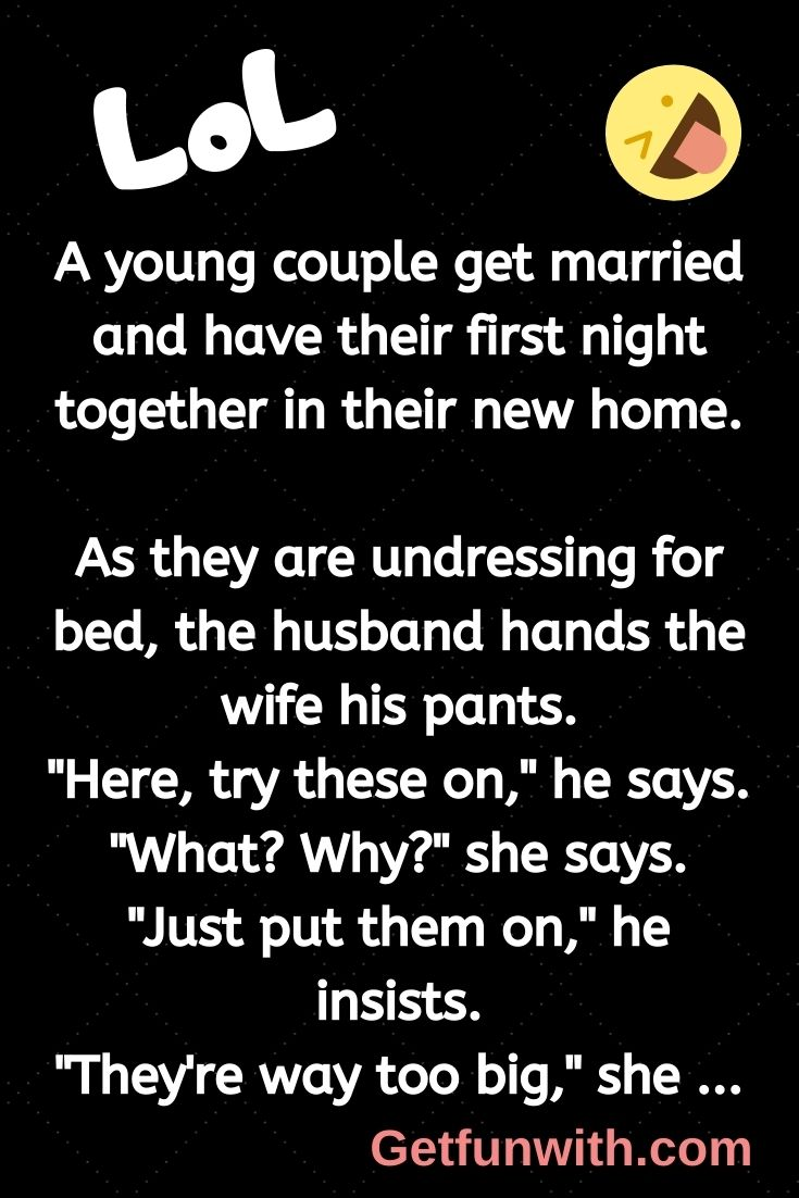 A young couple get married and have their first night together in their new home.