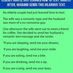Elderly Couple Just Learned How to Text. Shortly After Husband Sends This Hilarious Text.