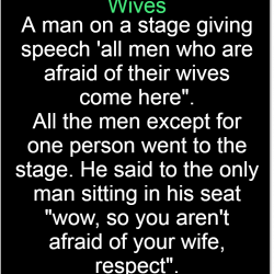 Man gives speech on Wives