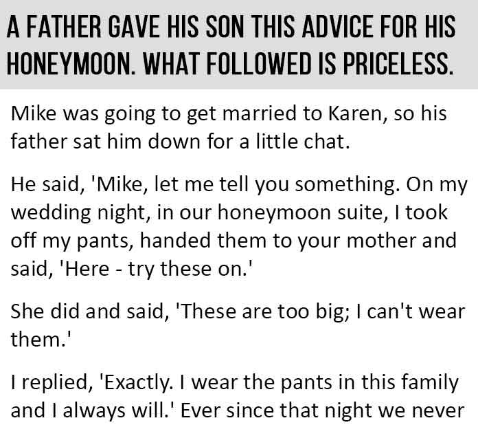 Father's Marriage Advice for His Son. This is Perfect.