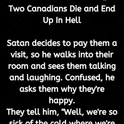 Two Canadians Die and End Up In Hell