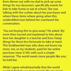 Girl Was Shocked When a Man Said This to Her Mom at Walmart