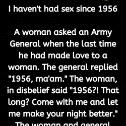 I haven't had sex since 1956