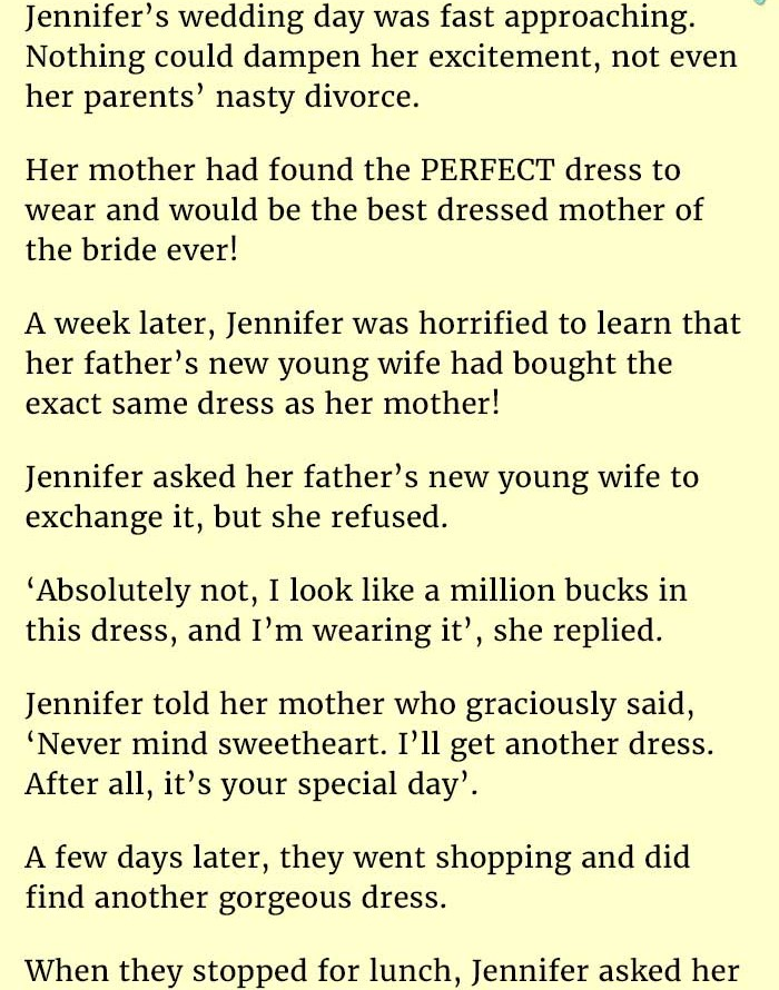 Dad's New Wife Tried to Ruin Her Wedding Day. But Her Real Mom Did is Genius.