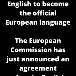English to become the official European language