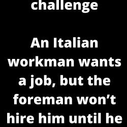 The Italian math challenge